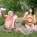 Outdoor Young and Old Sex